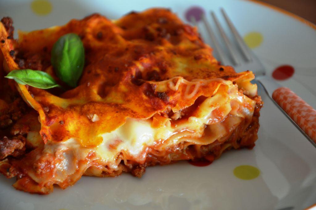 Lasagne z sosem ragù